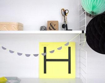 Mini Garland - Neon Yellow  3.25ft ( 1.0m )