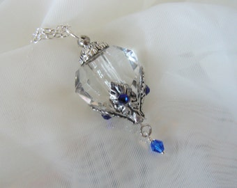 Crystal Diamond Perfume Or Essential Oil Bottle Necklace