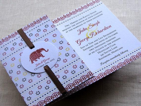 Elephant Wedding Invitations Indian Elephant Wedding