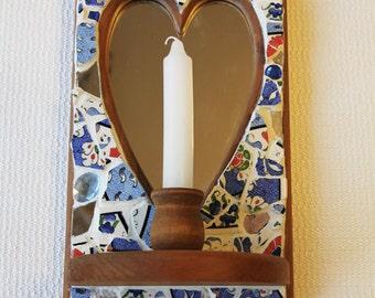 Custom-Made Mosaic Sconce