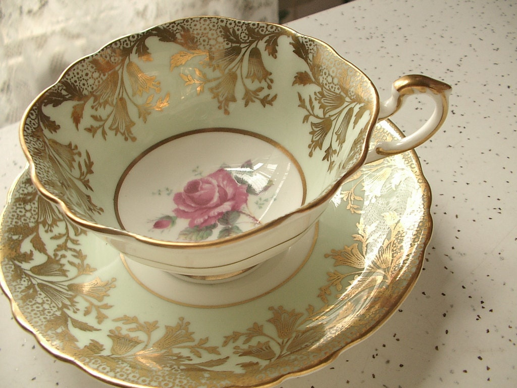 tea set vintage roses wallpaper - photo #38