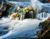 River Nature Photography,  autumn wall art, fall prints, 5x7 inch