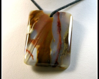 Reserved for Susie - Colorful Rectangle Candy Agate Designer Focal Bead