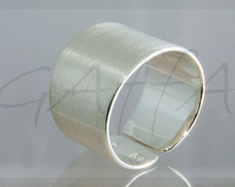 Silver ring -  wide open ring