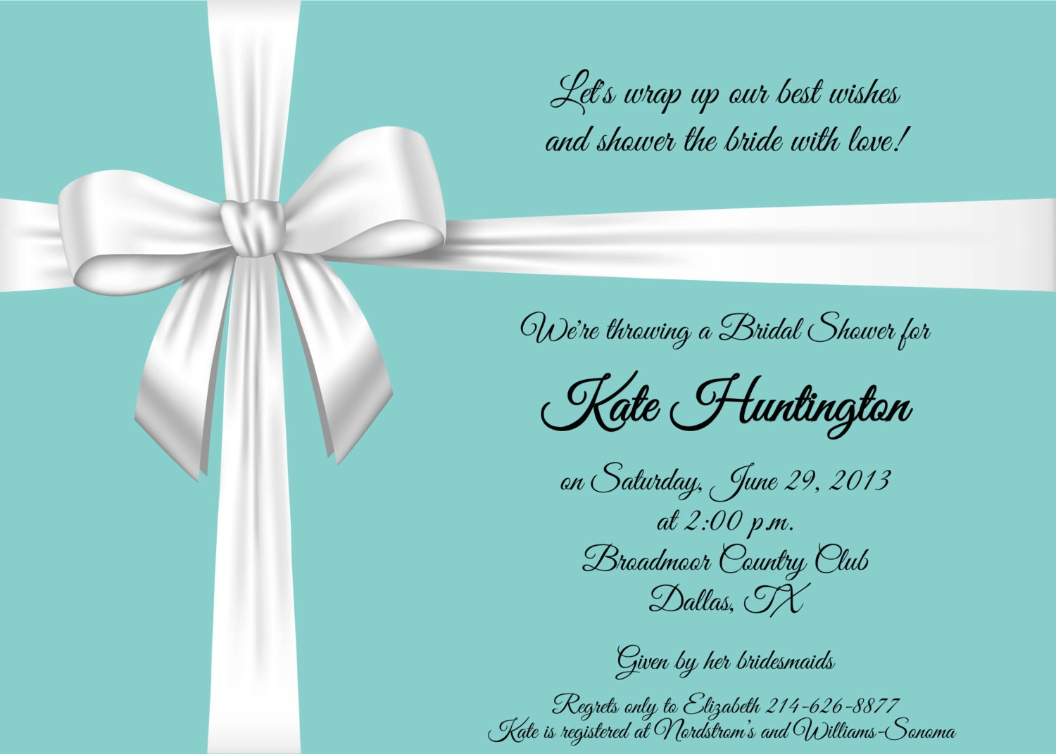 Tea Party Bridal Shower Invitation Wording was perfect invitation layout
