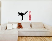 Vinyl Wall Decal Silhouette......Baseball H - 22h x 25 w plus FREE personalization sports silhouette vinyl decal custom decal