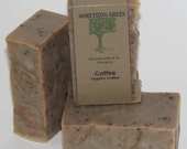 Coffee Soap - Exfoliating Soap, Natural Soap, Vegan Soap, Unscented Soap, Handmade Soap