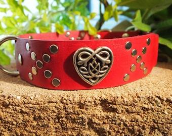 GoWear Dog Collar: Hugs and Kisses Heart Design