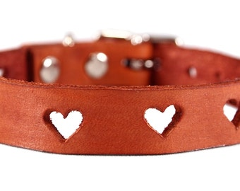 Hearts Leather Collar