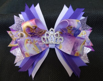 Princess Rapunzel inspired tiara bow