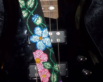 In Bloom guitar strap
