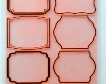 "Clear stamps large sheet (7""x10"") Simple Modern Frames FLONZ 403-67"