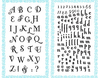 "Alphabet clear stamps set ""Fonteroy Capital and Small letters"" FLONZ 7708 acrylic clingy unmounted"