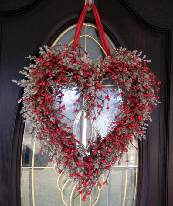 Valentine Wreath Valentine Decor 85% Natural By Forevermore1