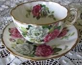 Royal Albert England Evening Rhapsody Footed Cup Saucer