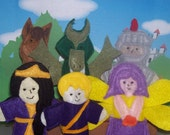 Fantasy Fairy tale set of 6 Original Felt Finger Puppets for Imaginative Play and Learning