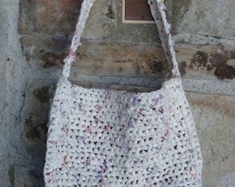 RECYCLED PLASTIC BAG handmade purse 1990s