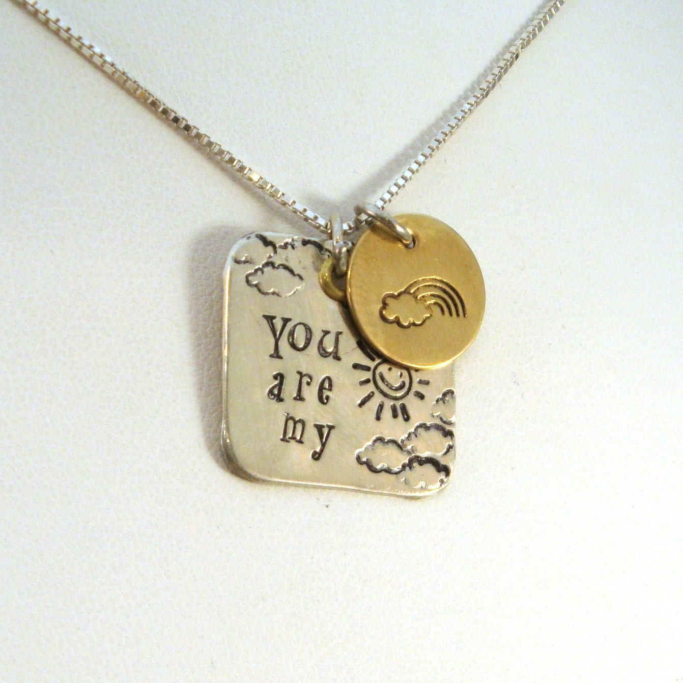 You are My Sunshine Necklace by CrowStealsFire on Etsy