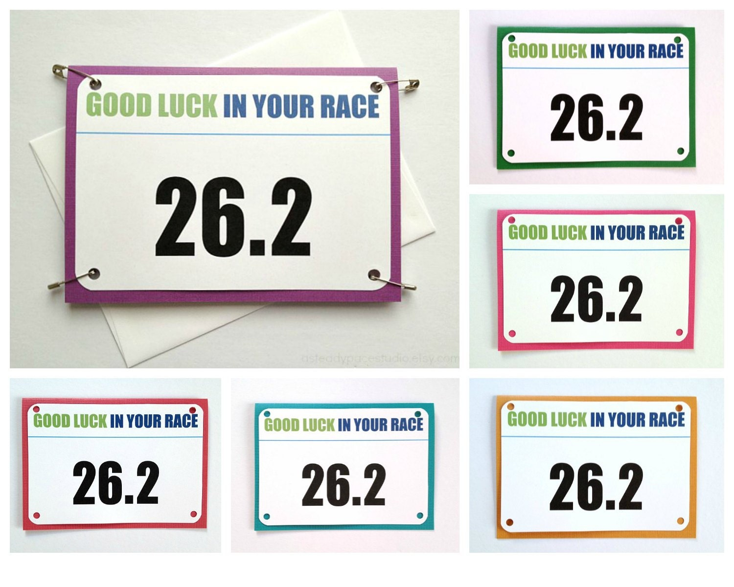 Marathon Good Luck Race Bib