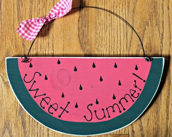 Wooden Sweet Summer Watermelon Sign