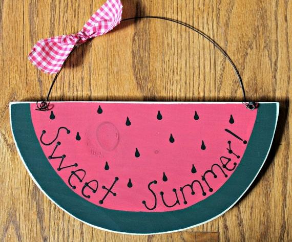 Wooden Sweet Summer Watermelon Sign