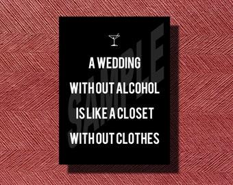 Fun Wedding Reception Bar Sign DIY