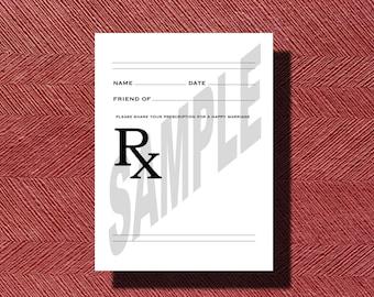 Fun Prescription For A Happy Marriage Printable Sheet