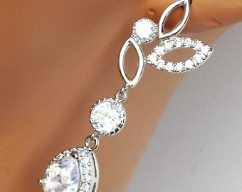 Rhinestone Bridal Earrings, Crystal Drop Bridal Earrings, Crystal Wedding Earrings, Wedding Jewelry, Bridesmaids Jewelry
