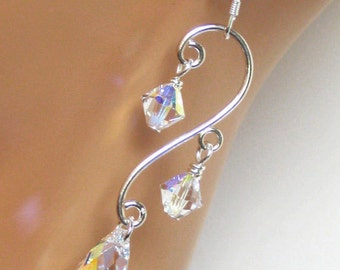 Wedding Jewelry, Wedding Earrings, Bridal Earrings, Bridal Jewelry, Crystal Earrings, Bridesmaids Gifts