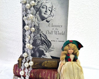 Vintage 50s Doll Book Classics of the Doll World Book by Nina S Davies 1950s Classic Doll Collecting Book RARE First Edition