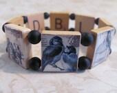 BLUEBIRDS Reversible Scrabble Tile Bracelet
