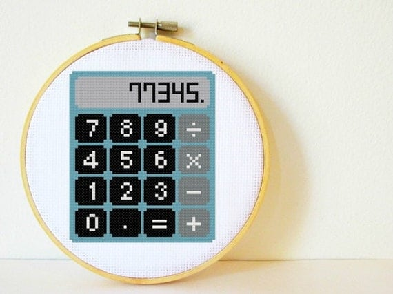 Counted Cross stitch Pattern PDF. Instant download. Calculator. Includes easy beginners instructions.