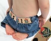"""Toddler Belt - Elastic Snap Belt - """"Arrg Pirates"""""""