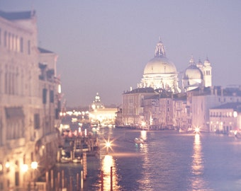 Venice Photography - Venice at night, 8x10, Italy photograph