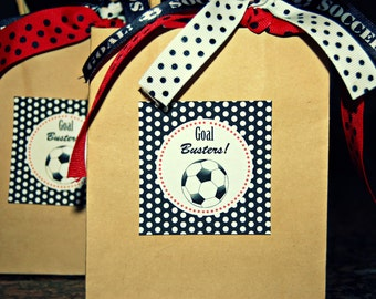 Soccer Snack or Favor Themed Tags