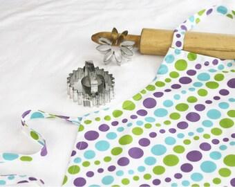 White N Purple Dots Child Apron