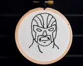 Luchador III Embroidered Wall Art. Sale 40% off!