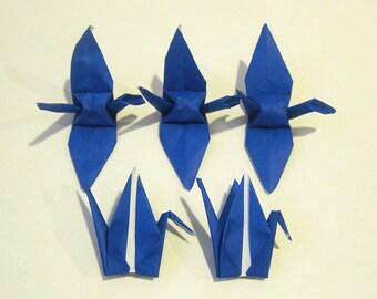 """100 3"""" Dark Blue Navy origami cranes paper cranes wedding party decoration single color"""