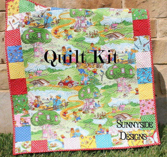 Quilt Kit Berenstain Bears Baby Focal Point Pattern