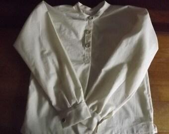 Boys Civil War Muslin Shirt Size 10 12 14 Period Cotton Shirt