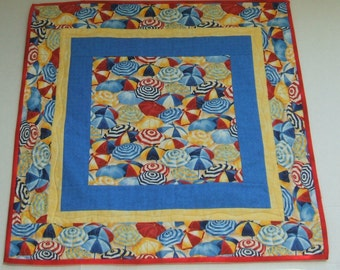 Beach Umbrella-4th of July Table Topper-Square-Free Shippping to US and Canada