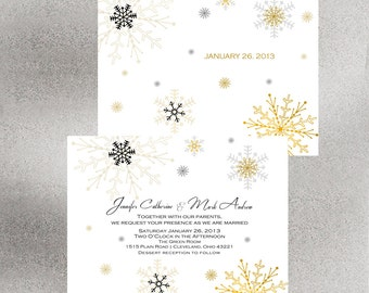 Wiinter Glitz Wedding Invitation