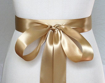 "Wedding Sash - Bridal Belt,  80 Colors to Choose From, You Pick your Color, 1.5"" Double Face Satin Ribbon Sash for Bride, Bridesmaids"