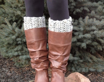Womens Crochet Boot Cuffs, Womens Boot Toppers, Womens Boot Socks, Faux Leg Warmers, Womens Boot Socks, Chunky & Thick,Textured and Stretchy