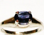 "Blue Iolite ring, water sapphire ring, s7, genuine gemstone jewelry, gifts for her, fine jewelry   ""Blue Violin"""