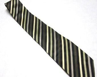 Vintage Necktie Green Tan Black Haggar Silk Tie