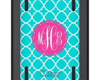 iPad Mini OTTERBOX DEFENDER - Blue LATTICE Hot Pink - Monogrammed iPad Mini 2 3 Case - Custom iPad mini 3 Case - Personalized
