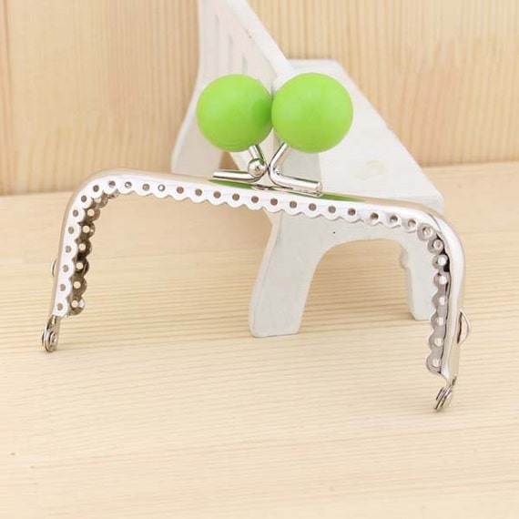 10.5cm (4.13inch) silver square shape candy beads sewing bag metal purse frame C14D-6