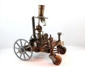 steampunk sculpture Tesla Time Tractor