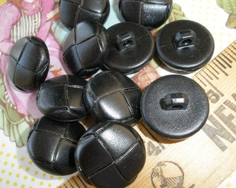 """Cool Faux Leather Corduroy Coat Buttons- 3/4"""" (19MM) plastic Size 30 10 each Black or Brown Just like the professors used to wear"""